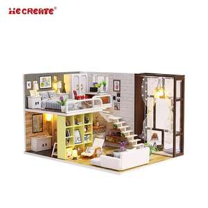 IIECREATE DIY Mini Handmade Furniture Wooden Gift Toys Miniature Dollhouse