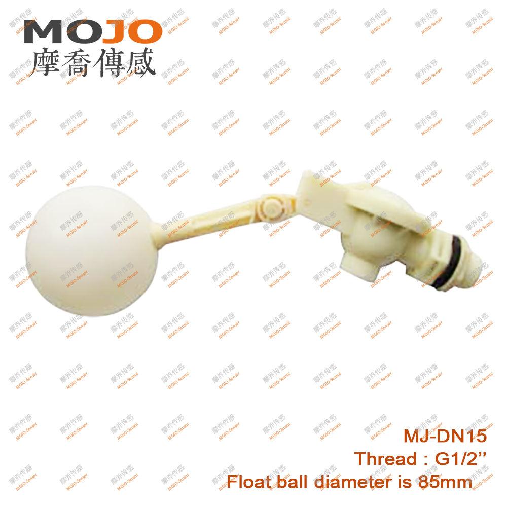 """Flüssiger Wasserspiegel-Sensor 1//2 /""""Gewinde aus Kunststoff Schwimmerventil Ball"""