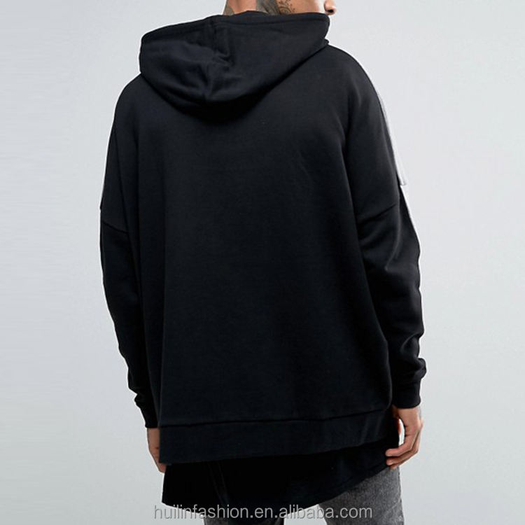Xxxxl hoodies in china dropped schouders zip zakken oversized fit custom truien met kap