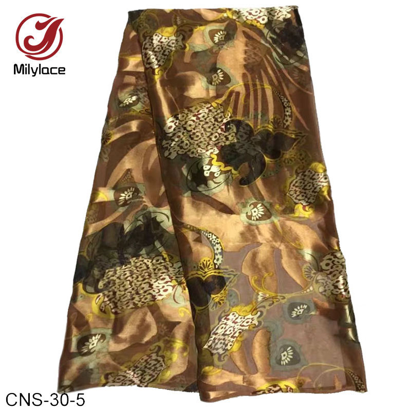 African textile light yellow italian wholesale digital printed 100% silk fabric for dresses
