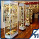 Aluminum 4 Layers Silver Cube Display Cabinets/Aluminium Lockable Cabinet with Glass Door/Retail Store Display Cabinet