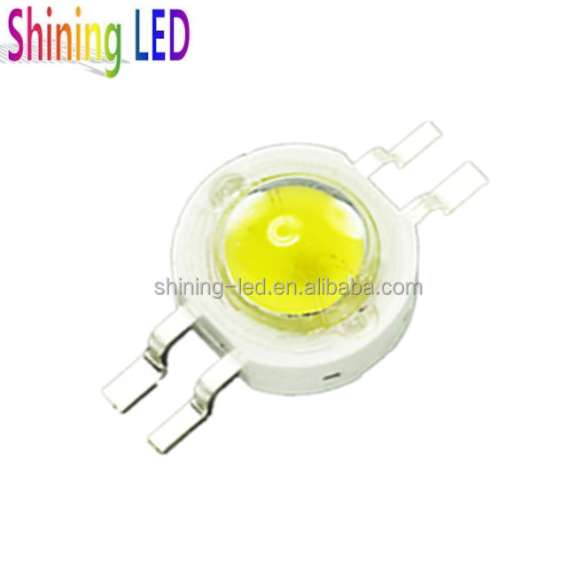 Two Colours Yellow+White 2 in 1 Dual Color 4 Pins High Power LED Chip
