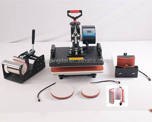 DINGDA 6 In 1 Combo Heat Press Machine Cup Magic Mug T-Shirt Printing Machine 8 1 Sublimation Machine