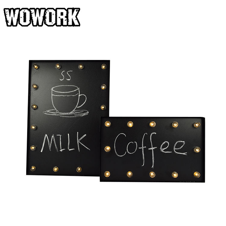 WOWORK illuminated ceremony blackboard floor letter light for shop window