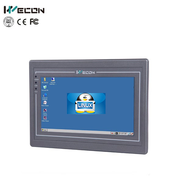 Wecon high 7inch LINUX HMI support firmware customization freely