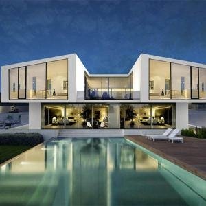 Easy Install Exported Prefab House Modern Luxury Light Steel House Villa