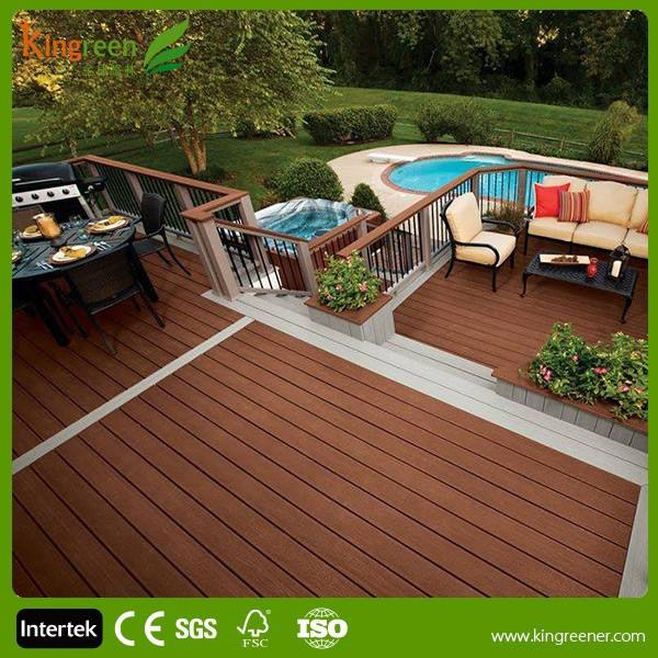 WPC decking cheap composite decking solid
