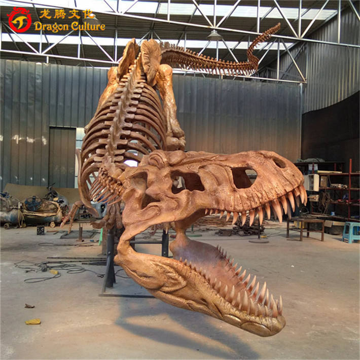 Tùy chỉnh bảo tàng thiết bị tiêu chuẩn chuyên nghiệp t-rex khủng long skeleton
