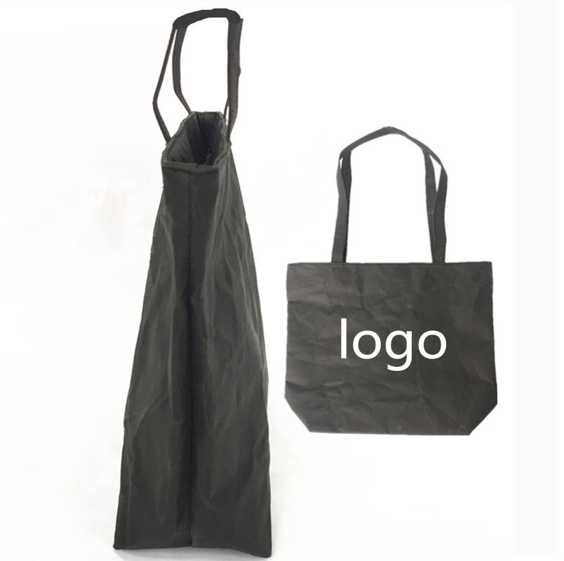 Wholesale Eco Friendly Tote Durable Zippered Top Quality Food Stand Up Kraft Paper Tote Bag