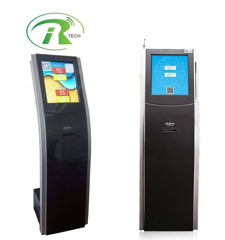 Electronic 17 inch touch screen with LED display, call pad, main display wired/wireless queue management equipment
