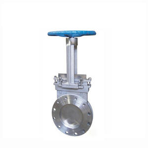 COVNA 4 inch Water Stainless Steel Wheel Handle Knife Gate Valve