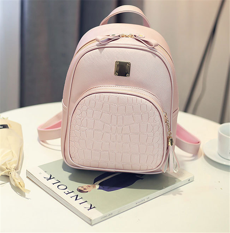 New Korean Version Of Backpacks Women's Backpacks Fashion Embossed Single Shoulder Crossbody Bag