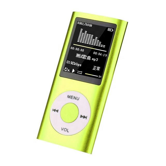 Terkecil Baterai Colorful Portable Mini Digital Music Player MP3/MP4 Player dengan Layar Digital dan Kabel