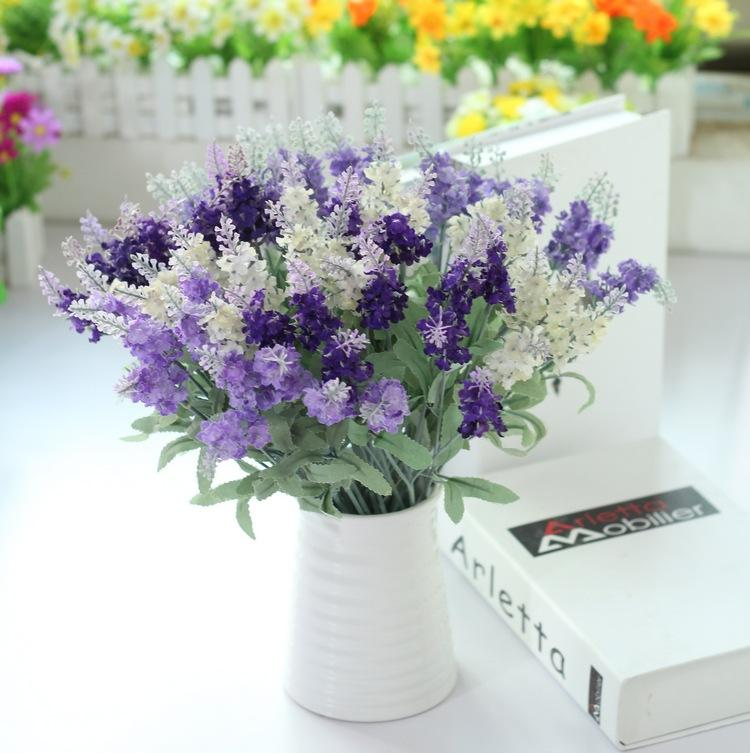 Household Ikebana Three Colour Provence Style Lavender Artificial Flower