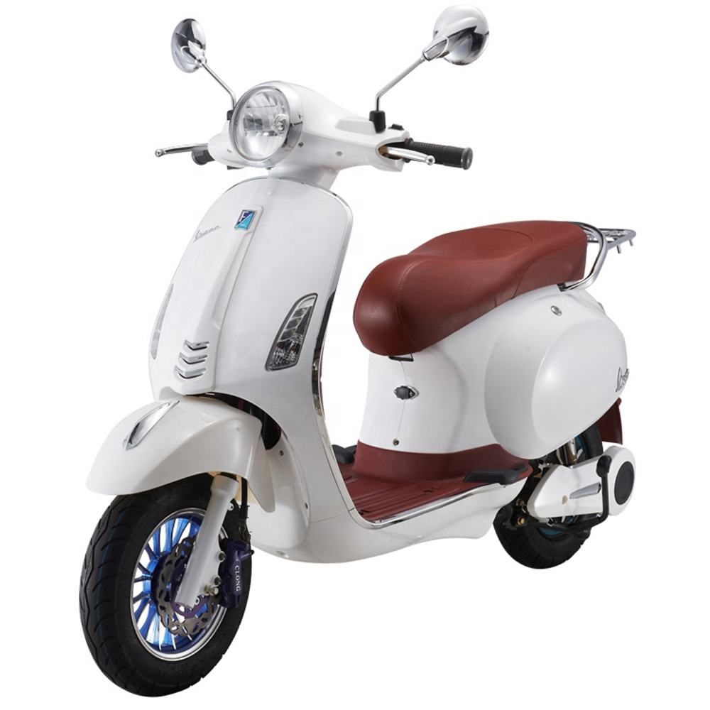 Fashionable 800W electric motorcycle moped scooter with 60V 20AH battery