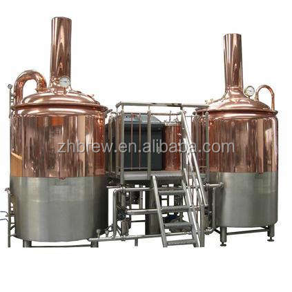 Stainless steel or copper 300L beer brewing machine for craft beer micro brewery