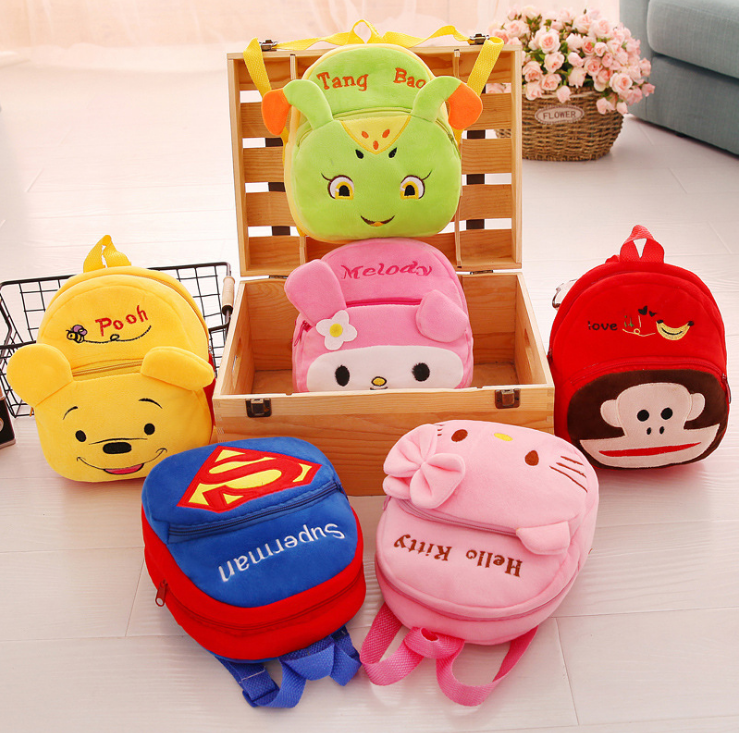 New design cartoon plush kids animal backpack,Wholesale children school backpack custom cartoon kindergarten backpack