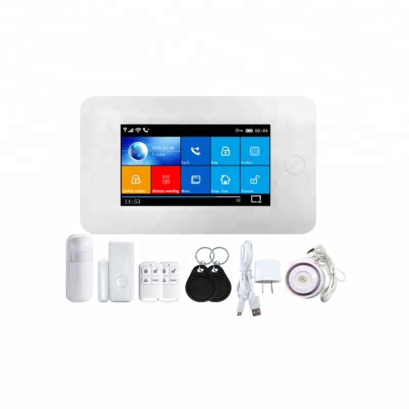 4g LTE home security system touch screen alarm hub WiFi smart alarm system mit PIR motion sensor tür windows magnetische kontaktieren