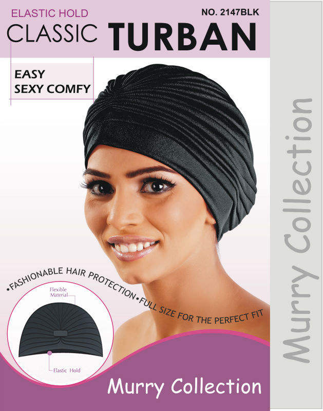 With Elastic Hold In Different Colours # 2147 Murry Collection Classic Turban