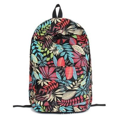 flower printed school backpack