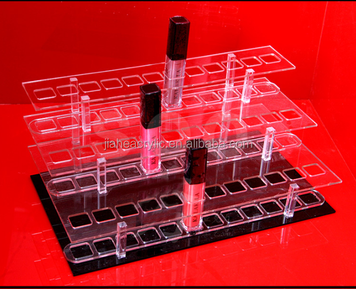 Nieuw Product Acryl Lippenstift Fabrikant Display, Perspex Make-Up Display Stand Voor Lippenstift Houder