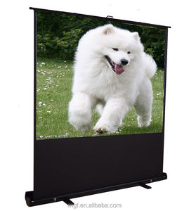 100 inches portable projector screen black diamond floor standing projection screen
