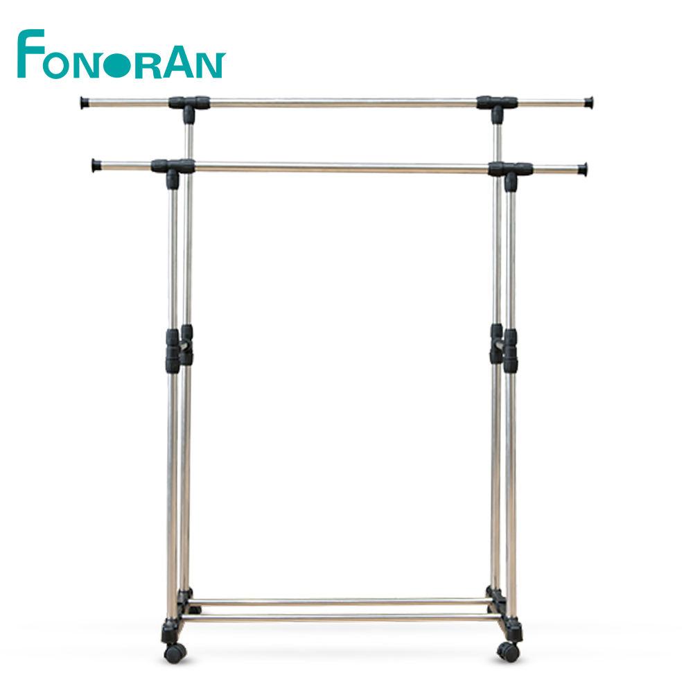 Malaysia double pole portable stand drying hanger for wet clothes