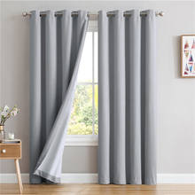 European pattern cortinas decoration curtain black out