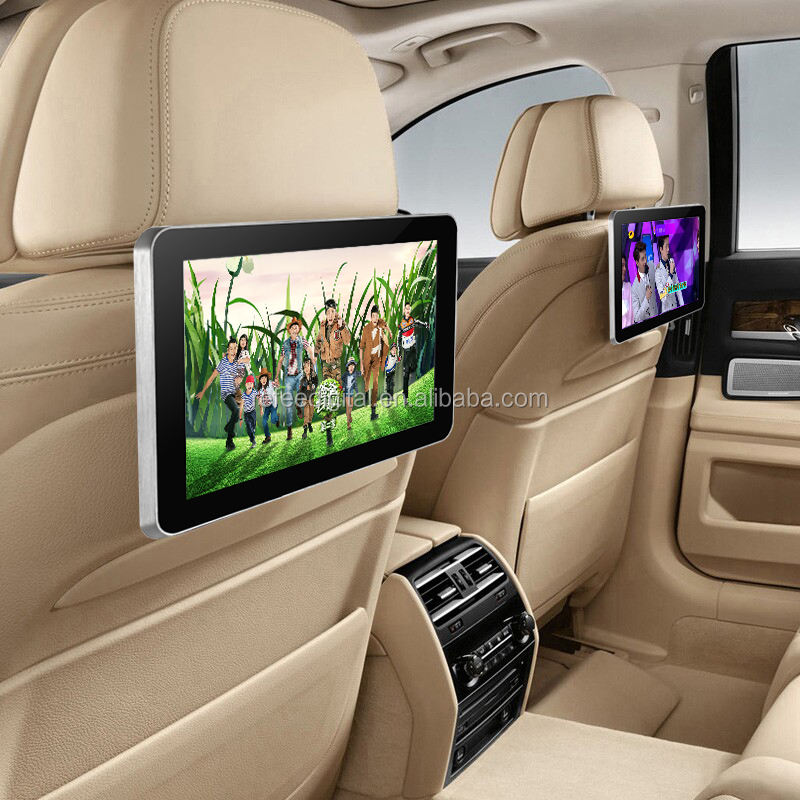 10 inch motion activated lcd taxi headrest advertising display