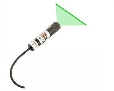 Small Dimension 30mW 520nm Laser Diode Module, DC3-5V Focal Adjustable Line Green Laser Head for Laser Sight
