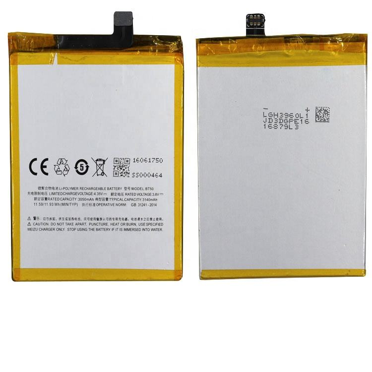 100% oem long durable stable capacity smartphone BT50 battery for Meizu Metal 3050mah 3.8v