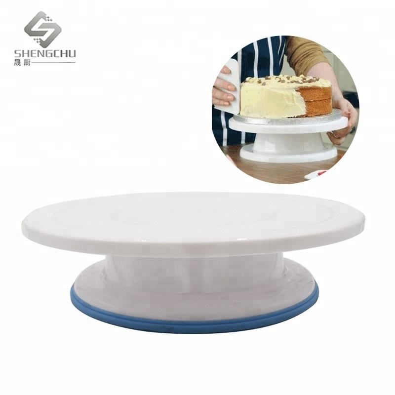 Hot selling plastic cake stand Cake turntable decorating tools color box packing