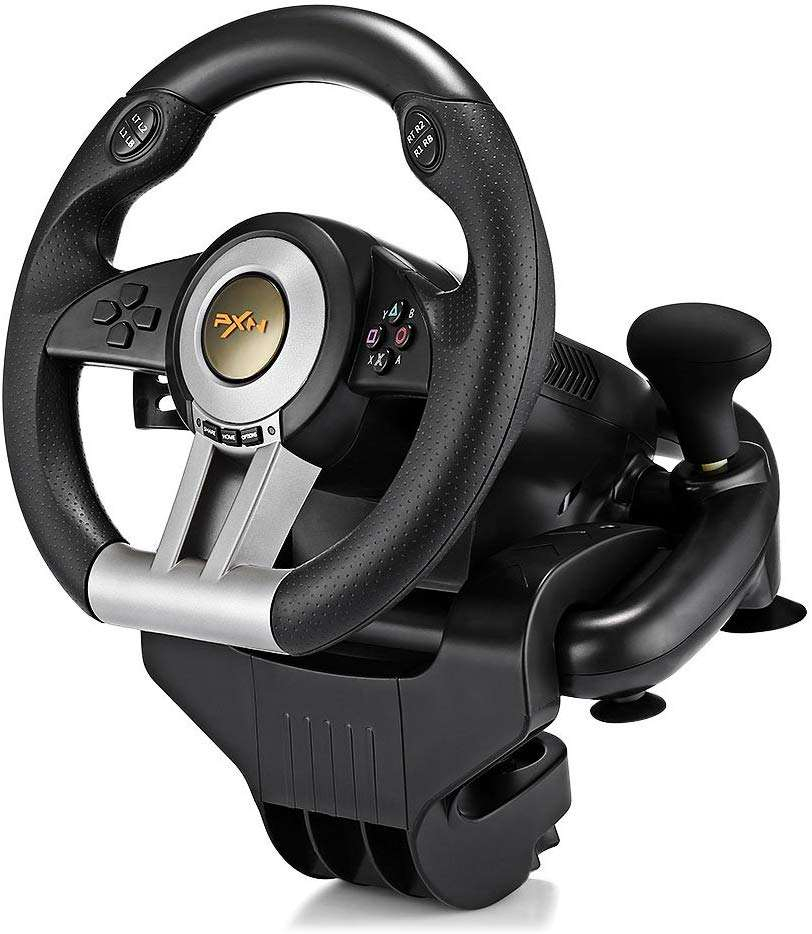PXN V3II Amazon Best di Vendita di Gioco Racing Wheel Simulator con il Grande Formato Pedali per PC/PS3/PS4/ XBOX/Interruttore