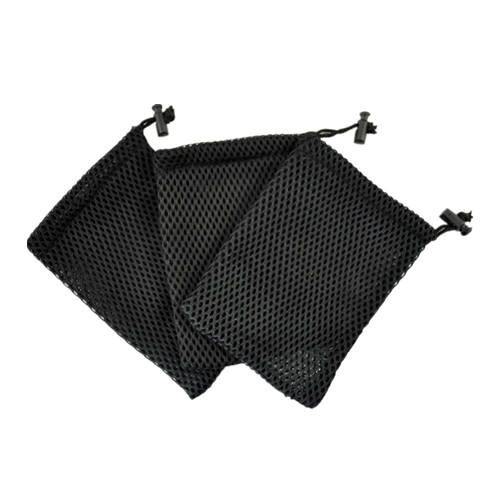 China manufacturers black mesh drawstring packaging bag