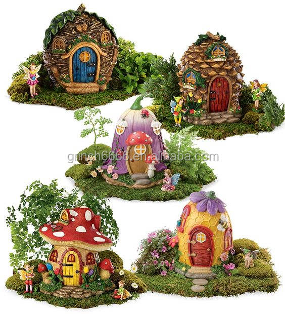 2020 Miniature Fairy Garden and Mushroom Fairy House Statue
