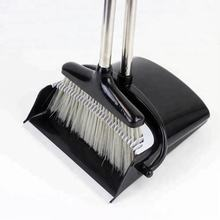 Amazon top seller long handle wind-proof plastic floor broom and dustpan set
