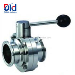 Lever With Actuator Ball Handle 3 4 Wafer Lug Type Steel Supplier Stainless Butterfly Valve Sanitary