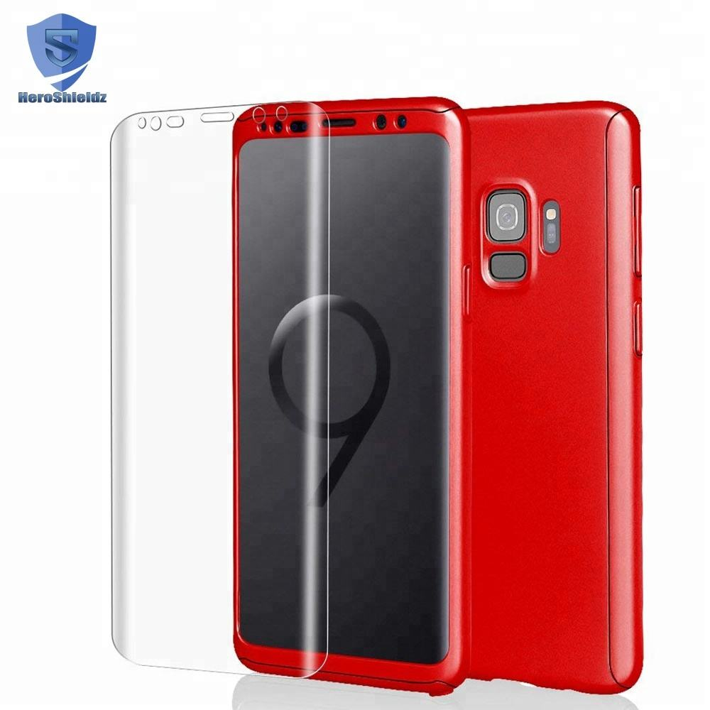 NEW S9/S9 Plus Case 360 Full Hard PC Case With Full Cover Soft Film, Anti Crack Case 360 Protection for Samsung Galaxy S9/S9+