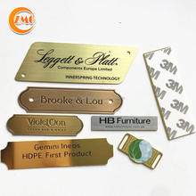 Best selling high grade custom texture  engraved brass or stainless steel metal logo plate