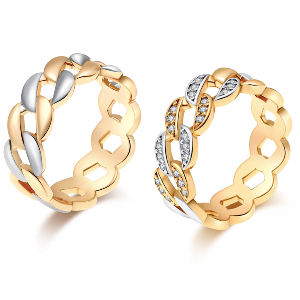 free sample two pieces 18k gold jewelry couple rings fashion custom eternity wedding engagement gold finger ring for women