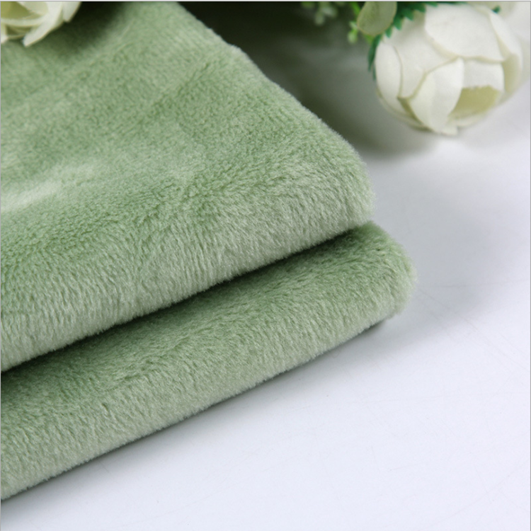cheap price China Supplier Textile 100% Polyester Minky super soft short hair flannel plush Fabric knit fabric for blanket