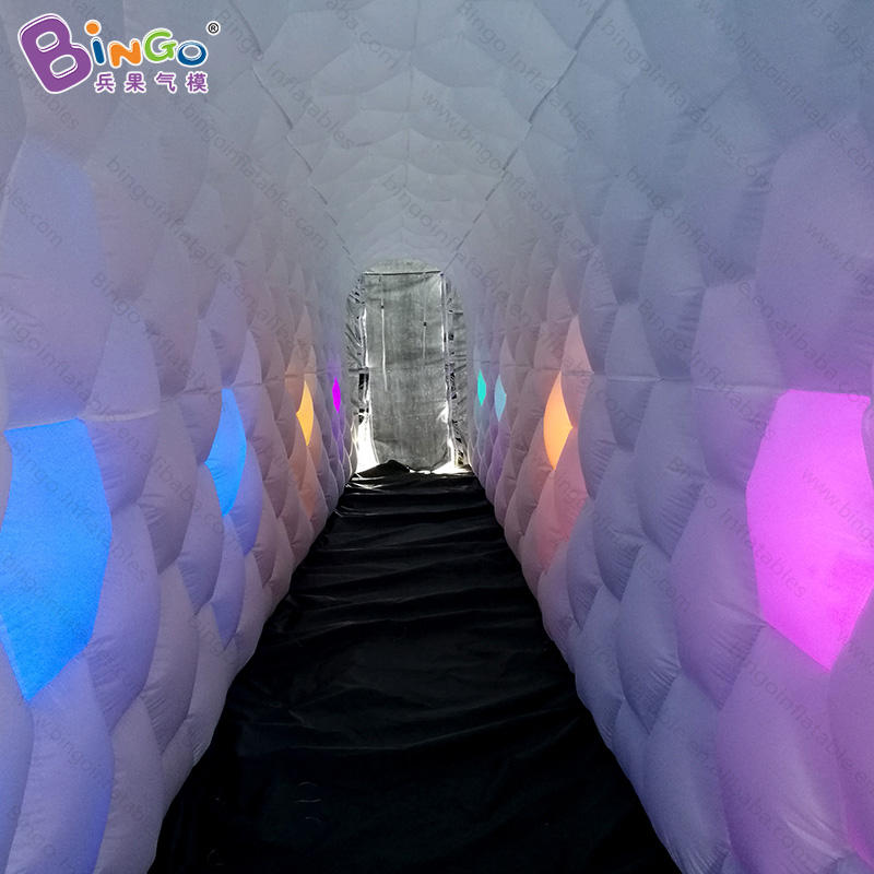 inflatable tent with led light, inflatable tunnel wall, inflatable lighted wall tunnel