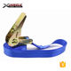 25mm Military ratchet buckle 0.8t cargo lashing mini tie down straps with endless polyester webbing