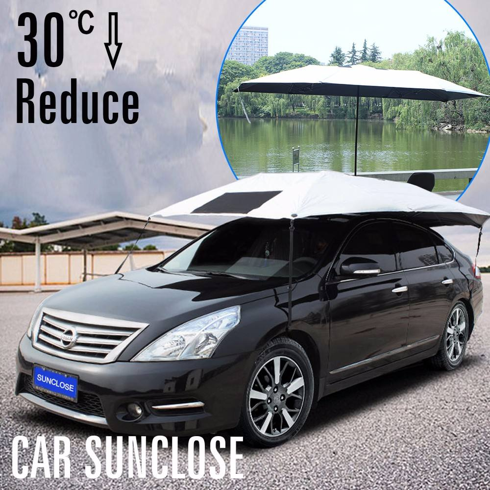 SUNCLOSE Silver PEVA Fabric Smart S M L Car Cover