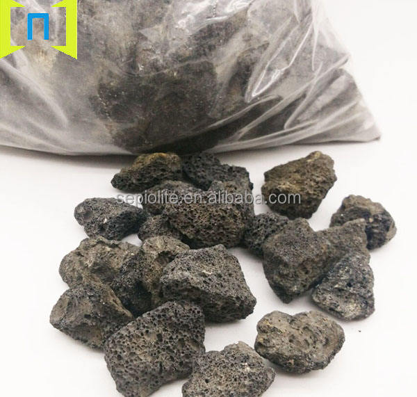 Natural basalt stone lava rocks
