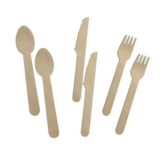 Promotion 16cm birch wood biodegradable compostable wooden cutlery
