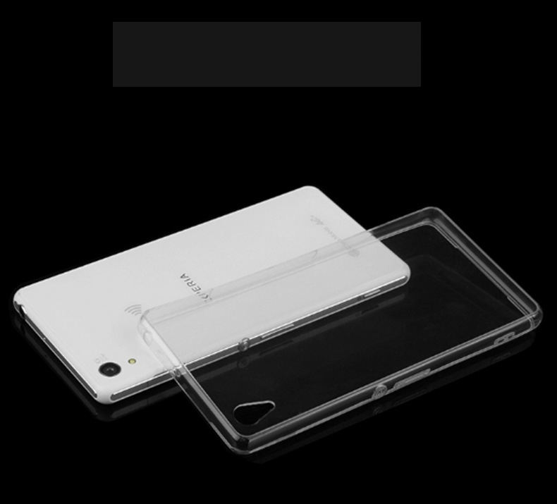 TPU Clear 0.3mm Slim Ultra Thin Colorful Transparent phone Case For Sony Xperia Z1 Z2