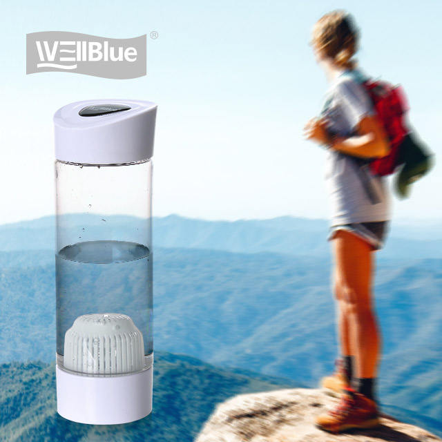 Wellblue 550ml Outdoor Portable Water Bottle With Alkaline Filter