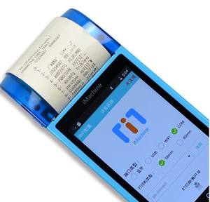 Ponsel Layar Sentuh Android Genggam POS Thermal Printer 80 Mm 5 Inch 3G Bluetooth WIFI Barcode Titik sale