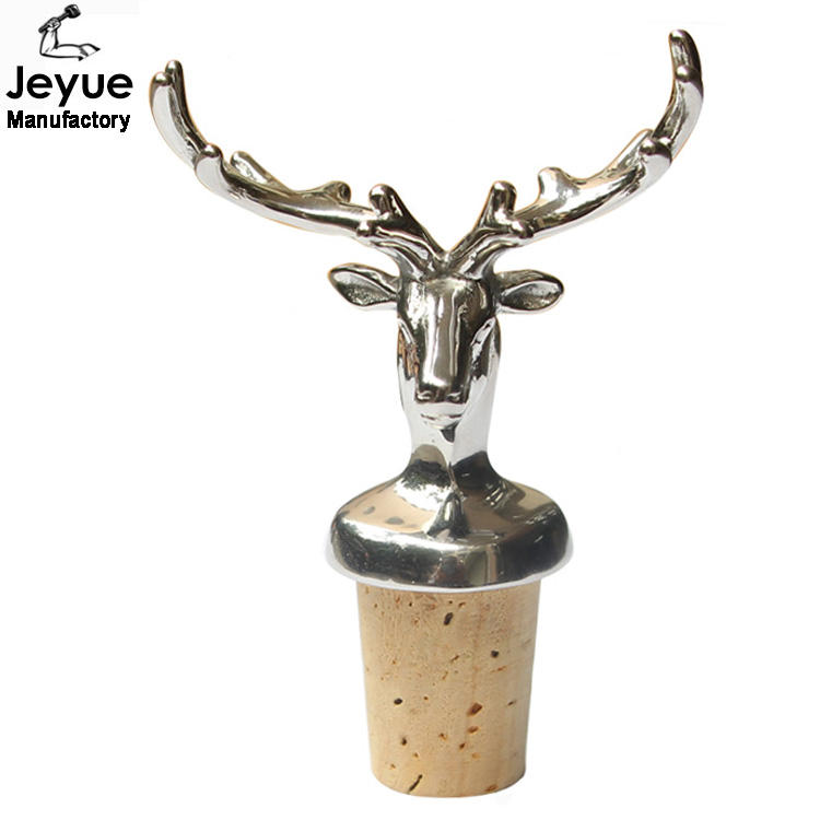 Red Deer Stag Scotland Cork /& Pewter Wine Or Spirit Bottle Stopper